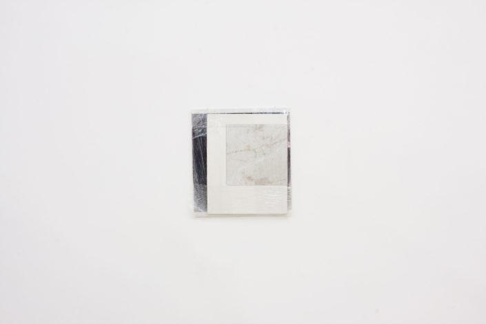 Leyden Rodriguez-Casanova. Wrapped Surfaces, 2014. Paper, foam core, plastic wrap, vinyl. 19.5 x 21.5 in, 49.53 x 54.61 cm. Collection Hertzog Da Silva, Sao Palo, Brazil.