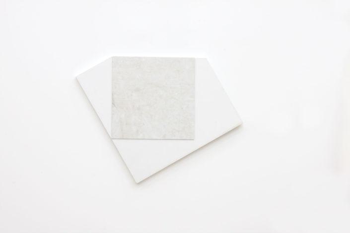 Leyden Rodriguez-Casanova. Panel and Tile, 2015. Vinyl tile, plywood, laminate, metal.