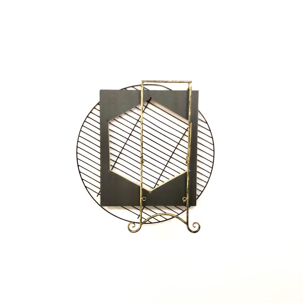 Leyden Rodriguez-Casanova. A Hexagon and Metal Frames, 2019.