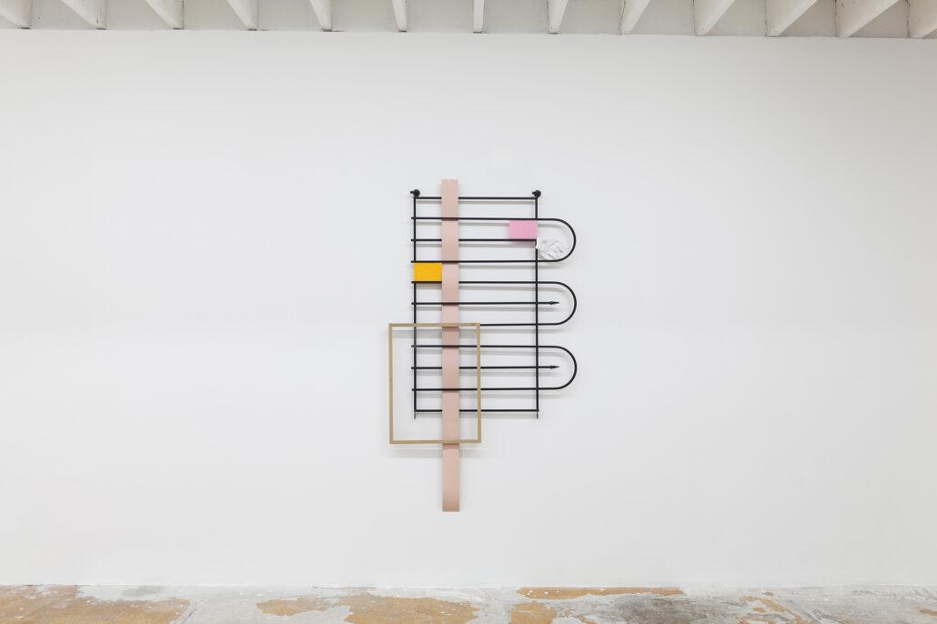Leyden Rodriguez-Casanova. Gate Composition (White Glove), 2020.