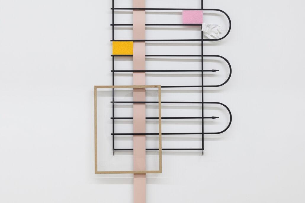 Leyden Rodriguez-Casanova. Gate Composition (White Glove), 2020 (detail).